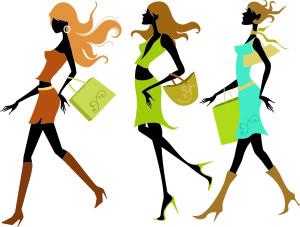 shopping sillouhette