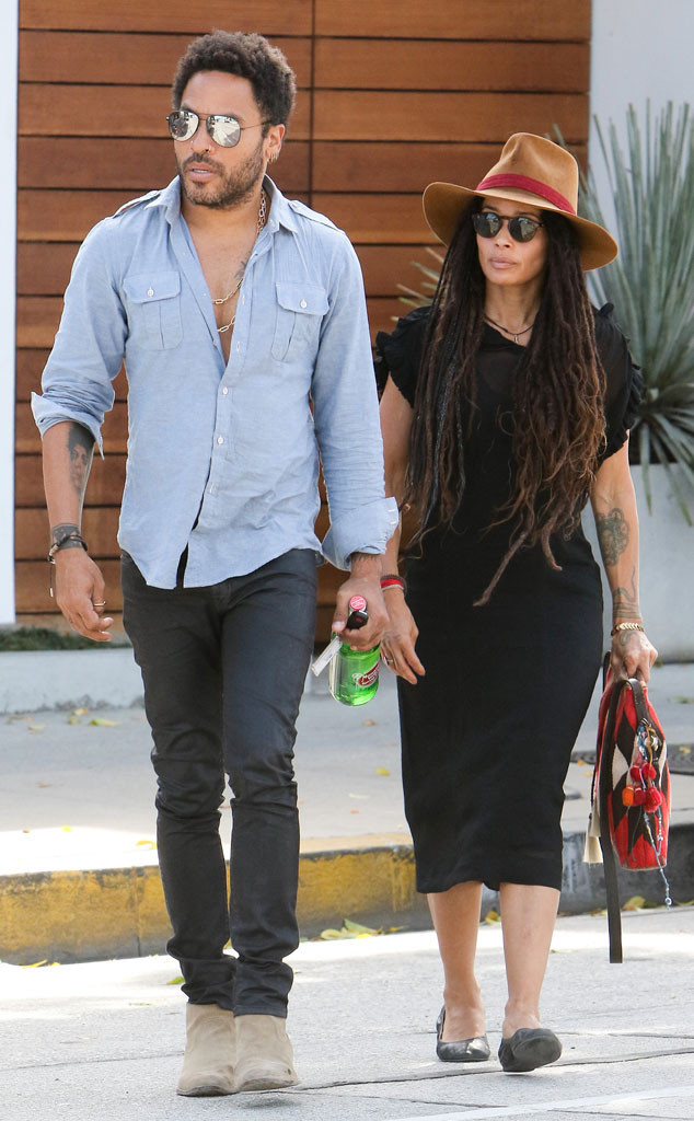 alt = lenny kravitz and lisa bonet