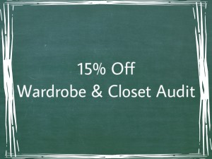 Wardrobe & Closet Audit 15% off