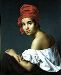Black woman wearing a head tie